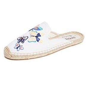 Soludos Butterflies Mule white size 9
